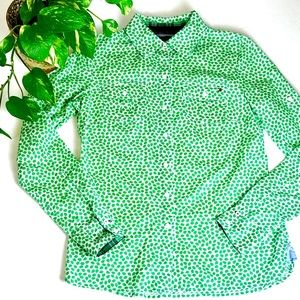 Tommy Hilfiger Leaf Print Long Sleeve Button Up